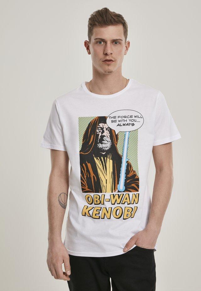 OBI-WAN KENOBI  - T-shirt print - white