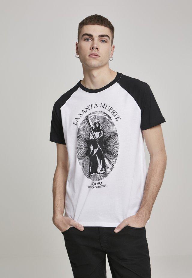 SANTA MUERTE  - T-shirt print - white/black