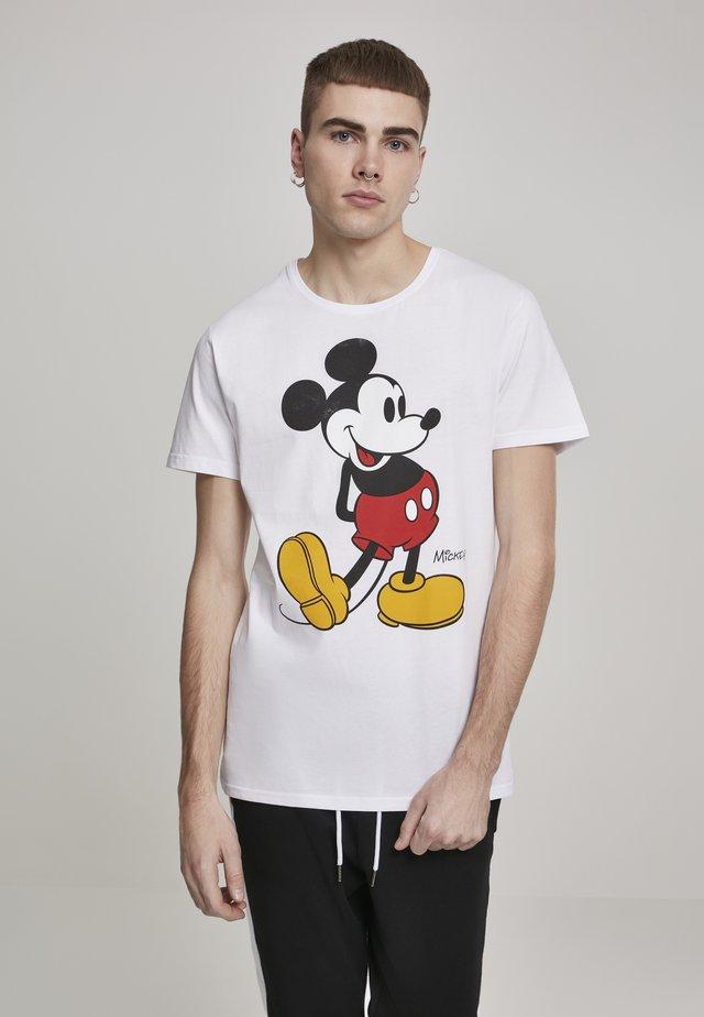 MICKEY MOUSE  - T-Shirt print - white