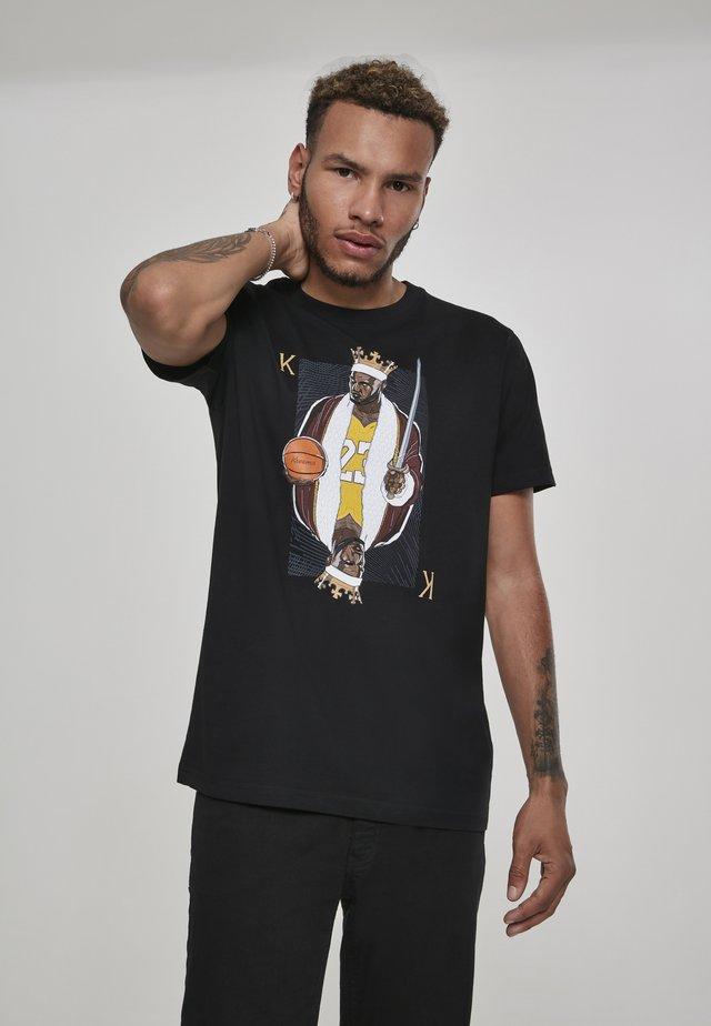 KING JAMES - T-shirt imprimé - black
