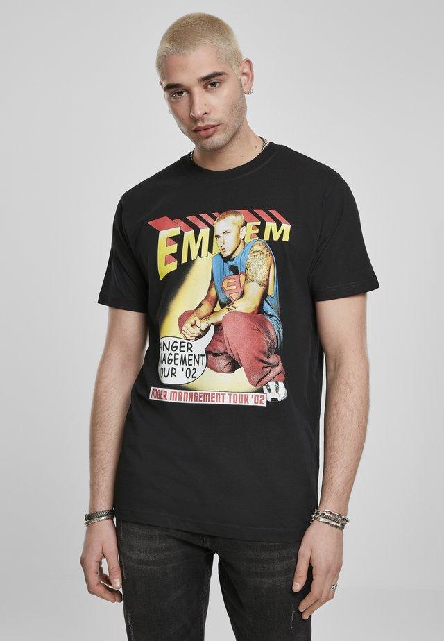 EMINEM ANGER COMIC  - T-shirt con stampa - black