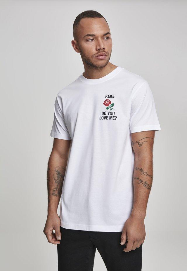 KEKE LOVE - Print T-shirt - white