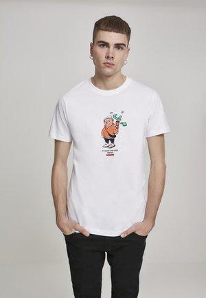 HERREN BEAR MONEY  - T-shirt print - white