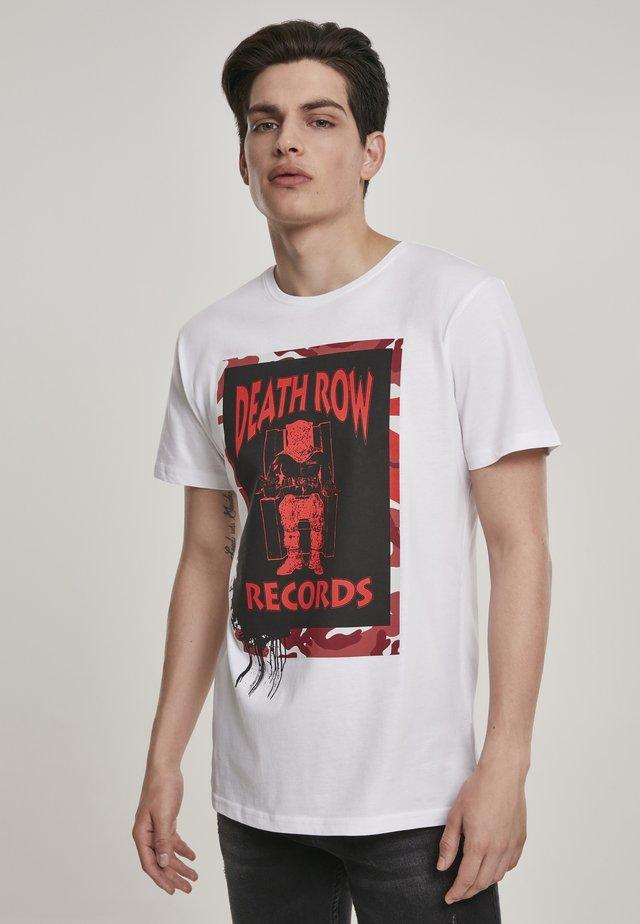 HERREN DEATH ROW CAMO TEE - T-shirt imprimé - white
