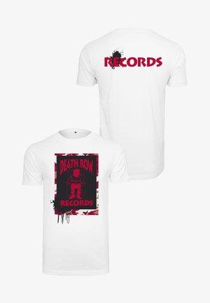HERREN DEATH ROW CAMO TEE - Print T-shirt - white