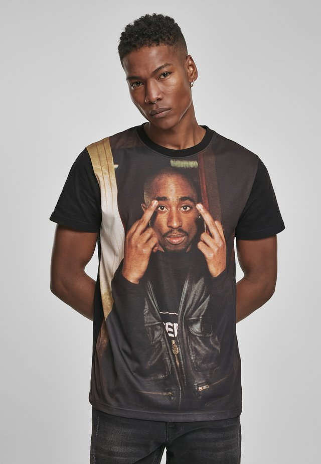 TUPAC TRUST NOBODY TEE - T-shirt imprimé - black