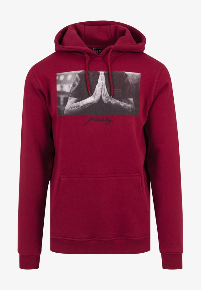 PRAY - Jersey con capucha - ruby