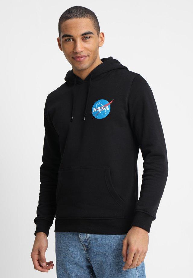 NASA SMALL INSIGNIA HOODY - Jersey con capucha - black