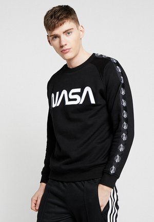 NASA WORMLOGO ROCKET TAPE CREWNECK - Sweater - black