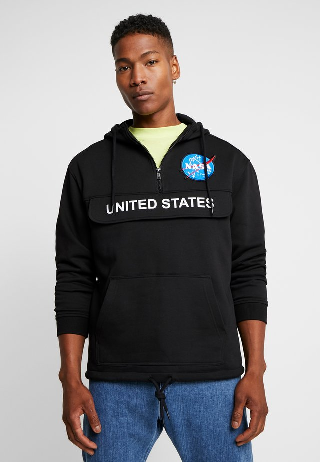 NASA DEFINITION PULL OVER HOODY - Jersey con capucha - black