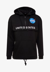 Mister Tee - NASA DEFINITION PULL OVER HOODY - Mikina s kapucí - black - 4