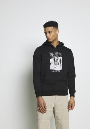 FUCK IT HOOD - Jersey con capucha - black