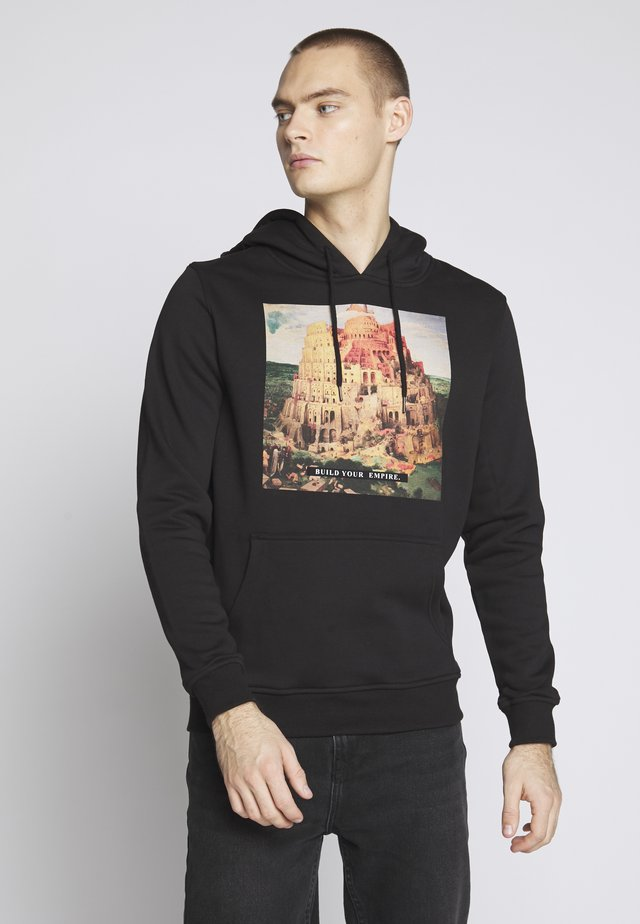 BUILD YOUR EMPIRE HOOD - Huppari - black