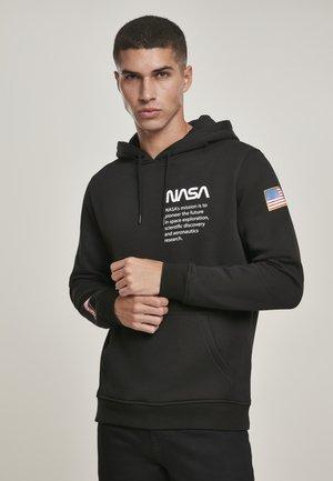 NASA DEFINITION - Felpa con cappuccio - black