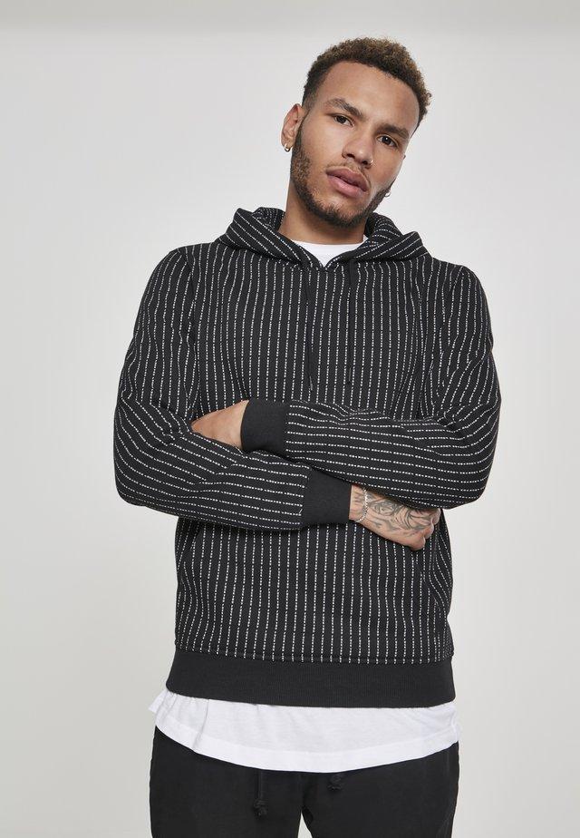 HERREN FUCKYOU HOODY - Jersey con capucha - black