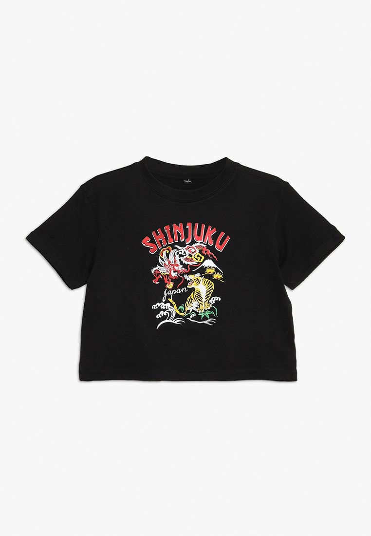 Mister Tee - KIDS JAPAN TIGER CROPPED TEE - Camiseta estampada - schwarz