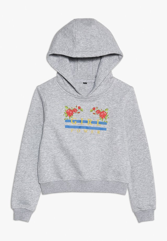 GIRL POWER CROPPED HOODY - Hoodie - grau