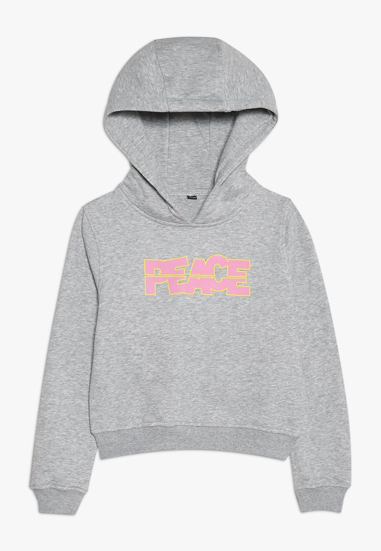 Mister Tee - PEACE CROPPED HOODY - Jersey con capucha - grau