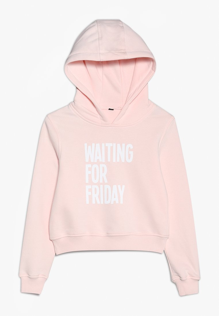 Mister Tee - KIDS WAITING FOR FRIDAY CROPPED HOODY - Jersey con capucha - rosa