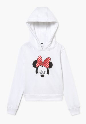 KIDS MINNIE MOUSE BOW CROPPED HOODY - Hoodie - white