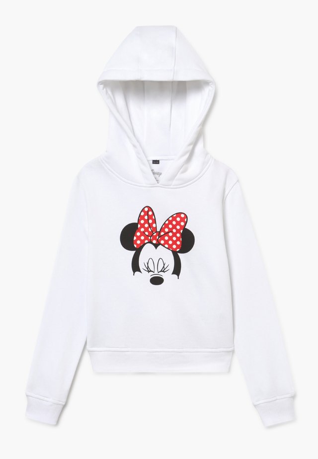 KIDS MINNIE MOUSE BOW CROPPED HOODY - Luvtröja - white