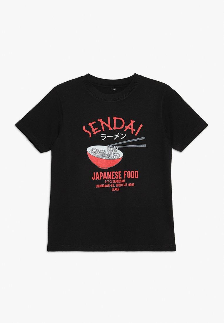 Mister Tee - KIDS RAMEN TEE - Camiseta estampada - schwarz
