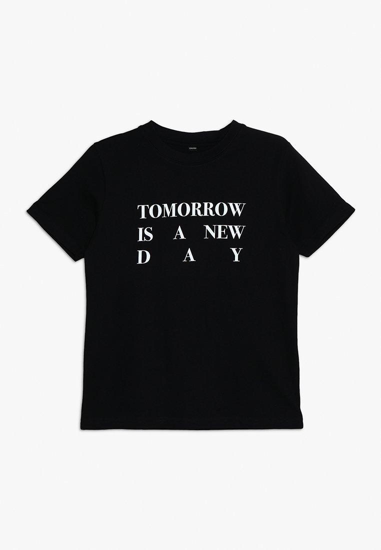 Mister Tee - KIDS NEW DAY TEE - Camiseta estampada - schwarz