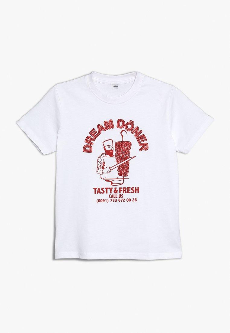 Mister Tee - KIDS DREAM DÖNER TEE - T-shirts print - weiss
