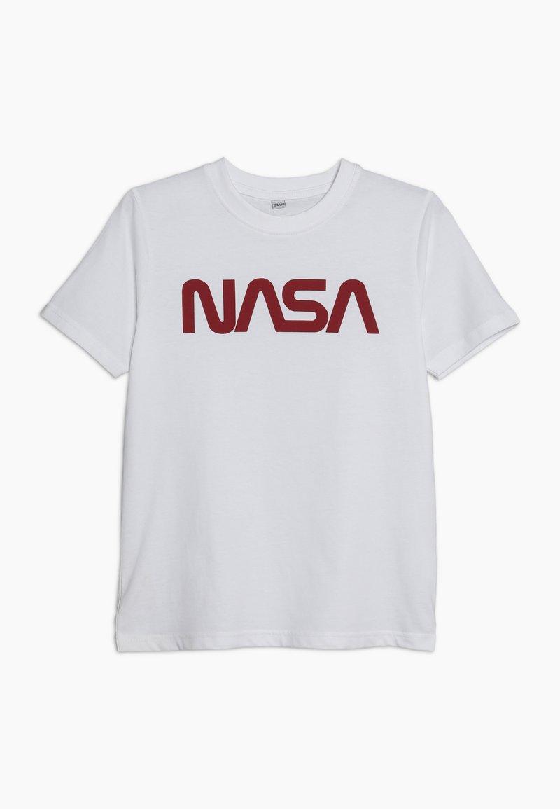 Mister Tee - KIDS NASA WORM LOGO TEE - T-shirts print - weiß