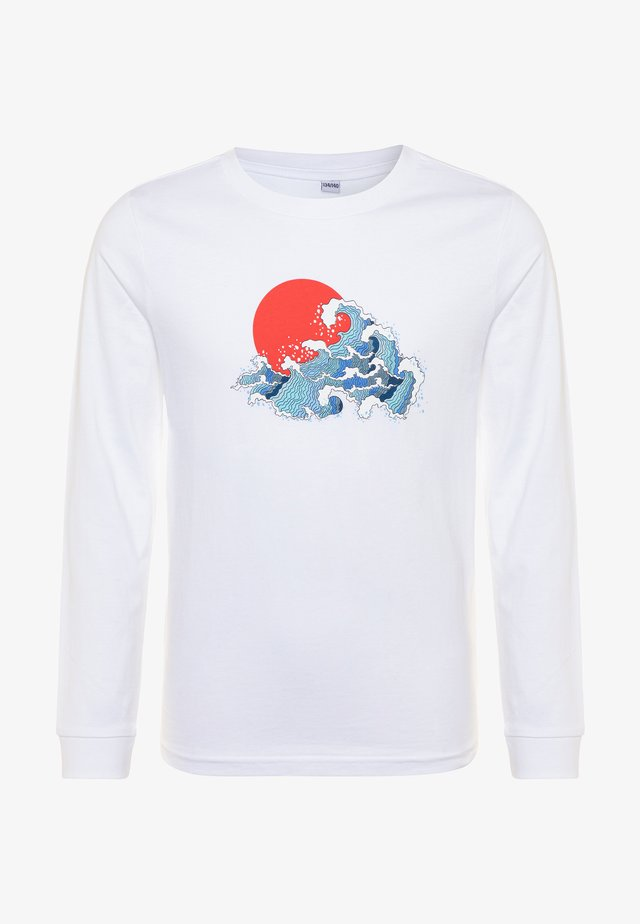 KIDS JAPAN WAVES LONGSLEEVE - Langarmshirt - white