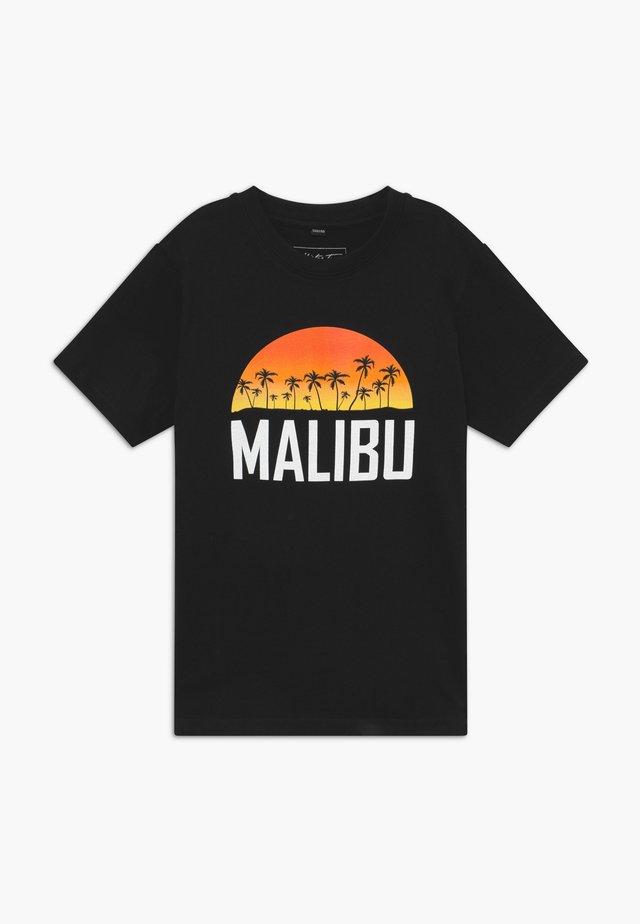 KIDS MALIBU - T-shirt med print - black