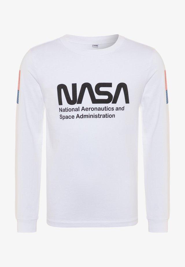 KIDS NASA WORM LONGSLEEVE - Long sleeved top - white