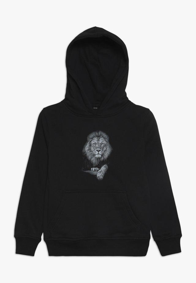 KIDS LION HOODY - Luvtröja - schwarz