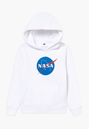 KIDS NASA INSIGNIA HOODY - Mikina skapucí - white