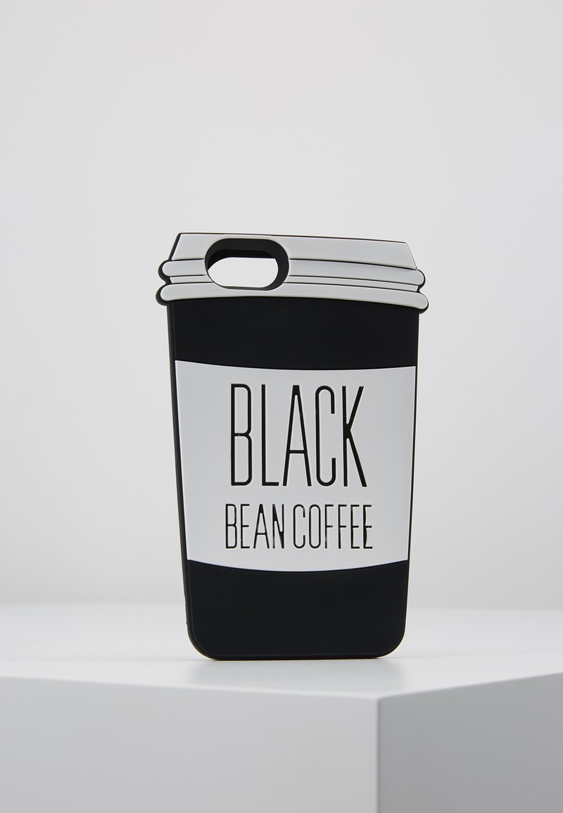 Mister Tee - PHONECASE COFFE CUP I PHONE 6/7/8 - Handytasche - black/white