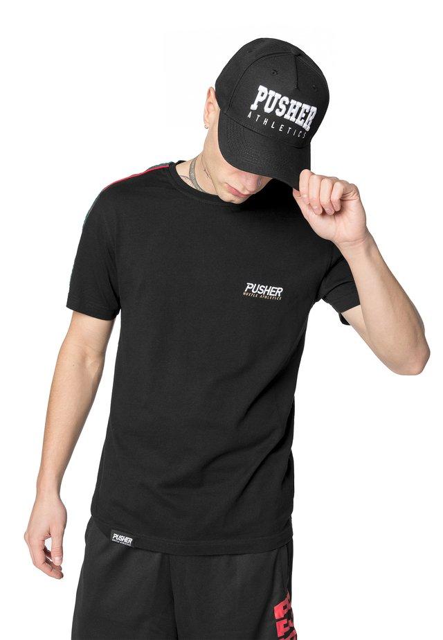 MISTER TEE HERREN PUSHER ATHLETICS SNAPBACK - Cap - black/white