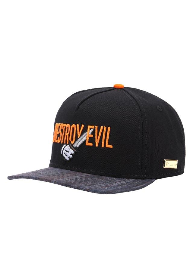 MISTER TEE CAP HOG DESTROY EVIL CAP - Pet - black/orange
