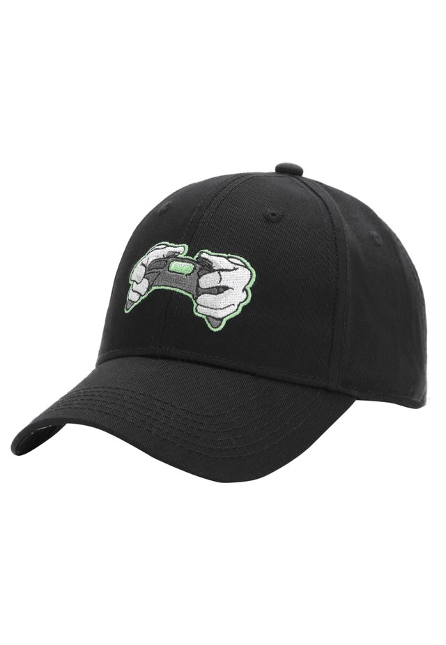 MISTER TEE CAP ALL DAY CURVED CAP - Pet - black/neon green