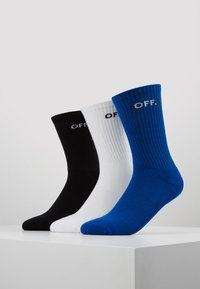 Mister Tee - OFF SOCKS 3 PACK - Ponožky - blue/black/white - 0