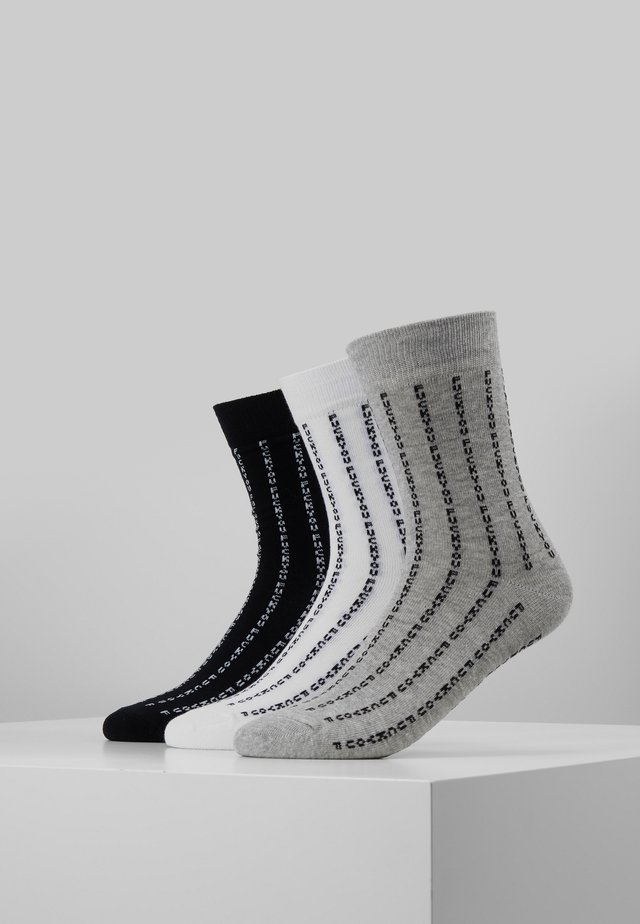 3 PACK - Sokker - black/grey/white