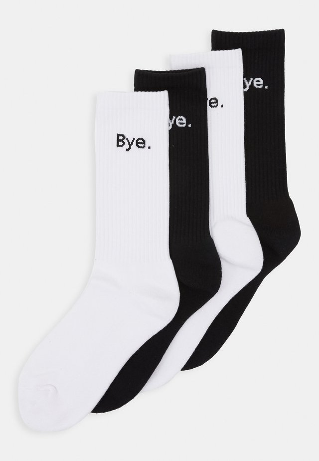 HI BYE SOCKS 4 PACK - Sokker - black/white