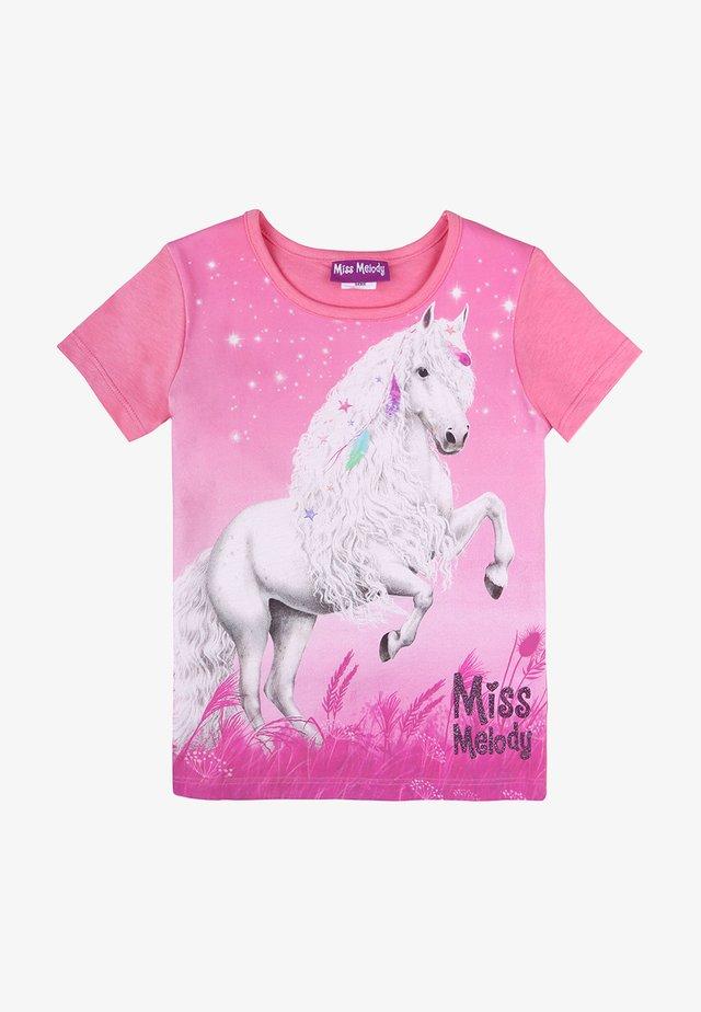 Print T-shirt - pink carnation