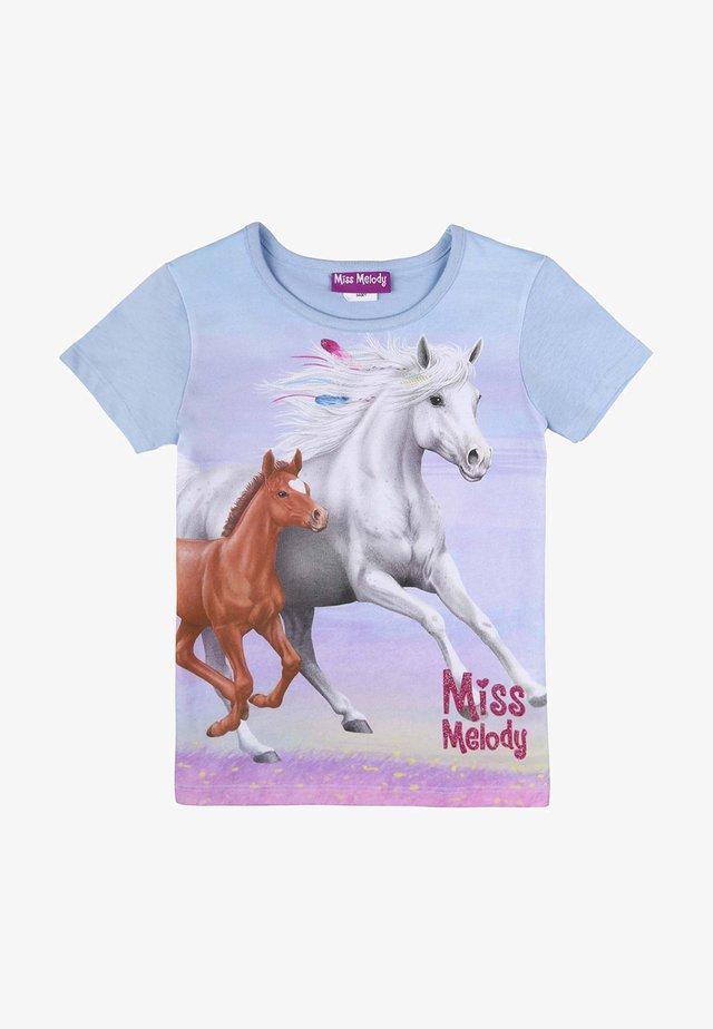 Print T-shirt - cashmere blue