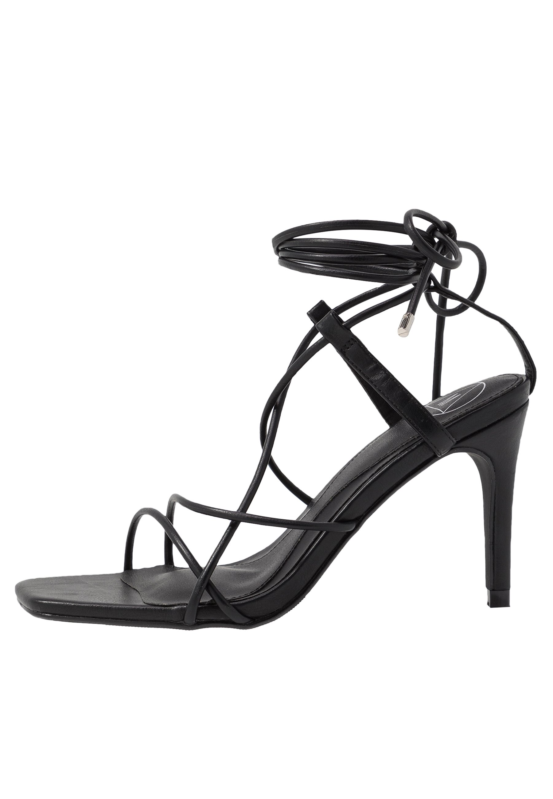 Missguided STRAPPY KNOTTED - Sandały na obcasie - black