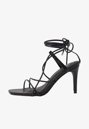 STRAPPY KNOTTED - Sandales à talons hauts - black