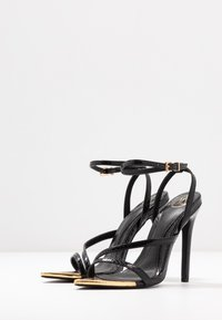 Missguided - TOE CAP STRAPPY BARELY THERE CROC - High heeled sandals - black - 4