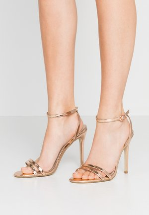 DOUBLE STRAP BARELY THERE - High heeled sandals - rose gold
