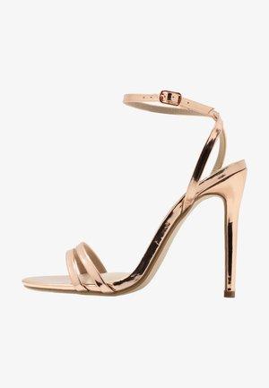DOUBLE STRAP BARELY THERE - Sandály na vysokém podpatku - rose gold