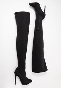 Missguided - STILETTO HEEL BOOT - High Heel Stiefel - black - 3