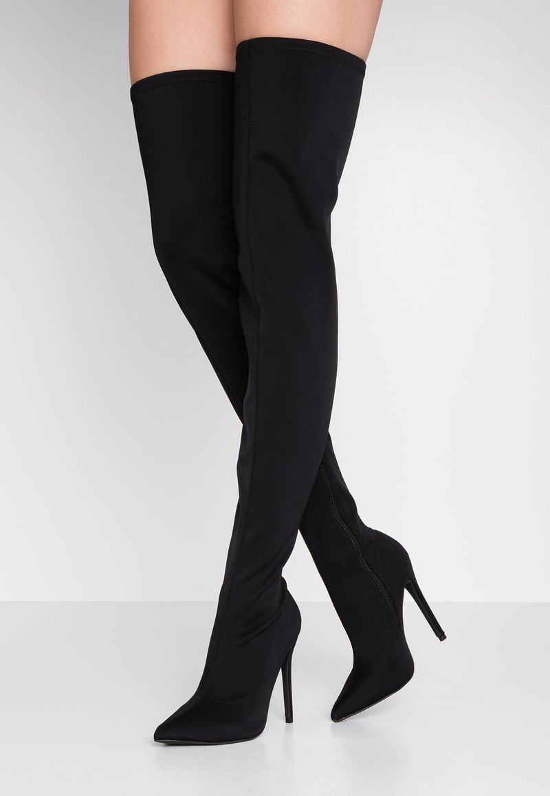 Missguided - STILETTO HEEL BOOT - High Heel Stiefel - black